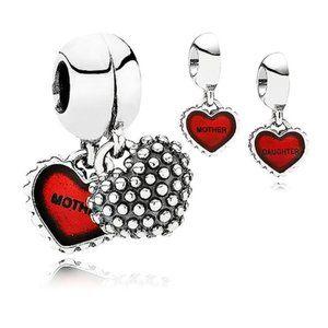 Pandora Piece Of My Heart Daughter Red Enamel
